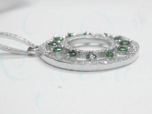 223ctw genuine natural diamond and tsavorite pendant in solid 14k 223ctw genuine natural diamond and tsavorite pendant in solid 14k white gold aloadofball